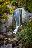 Waterfall in Japanese garden Stock Photography