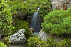 Waterfall in Japanese Tea Garden. In San Francisco stock image