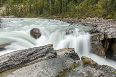 Waterfall - Jasper National Park, Canada Stock Image