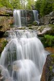 Waterfall Jedlove, Czech republic Royalty Free Stock Images