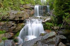 Waterfall Jedlove, Czech republic Royalty Free Stock Image