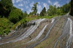 Waterfall at Jermuk resort in Armenia royalty free stock photo