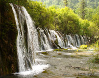 Waterfall in Jiuzaigou. Nature protection area, Sichuan province, South-West China Stock Photography