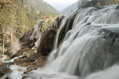 Waterfall in JiuZhai, China. Waterfall in JiuZhai China. The elevation is above 2km Stock Photo
