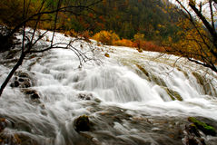 Waterfall of jiuzhai pearl beach Royalty Free Stock Photo