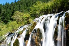 Waterfall of Jiuzhai Valley Royalty Free Stock Images