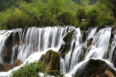 Waterfall in Jiuzhaigou Stock Photography
