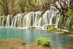 Waterfall Jiuzhaigou China Stock Photography