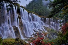 Waterfall in jiuzhaigou Royalty Free Stock Photo