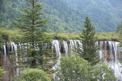 Waterfall at jiuzhaigou national park Stock Photos
