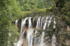 Waterfall at jiuzhaigou national park in china Royalty Free Stock Photo