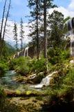 Waterfall at Jiuzhaigou National Park ,sicuan china. Stock Photos
