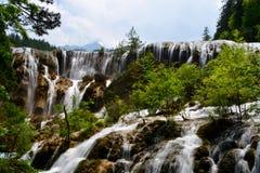 Waterfall at Jiuzhaigou National Park ,sicuan china. Stock Image