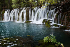 A waterfall in the Jiuzhaigou Royalty Free Stock Photography