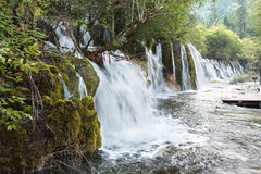 A waterfall in the Jiuzhaigou Stock Photos