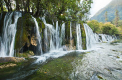 A waterfall in the Jiuzhaigou Royalty Free Stock Image