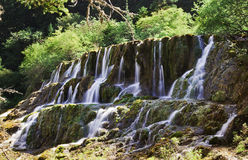 A waterfall in the Jiuzhaigou Stock Images