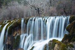 Waterfall,Jiuzhaigou Scenic Area Winter Royalty Free Stock Images