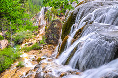 Waterfall at Jiuzhaigou, Sichuan, China Royalty Free Stock Photography