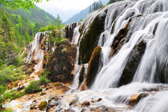Waterfall at Jiuzhaigou, Sichuan, China Stock Photos