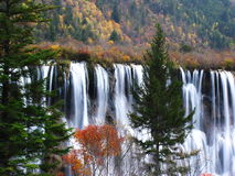 Waterfall in jiuzhaigou valley scenic Stock Images