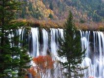 Waterfall in jiuzhaigou valley scenic. Waterfall in jiuzhaigou valley scene,sichuan province Stock Images