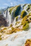 Waterfall in Jiuzhaigou Valley in Sichuan province, China Stock Photo