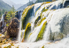 Waterfall in Jiuzhaigou Valley in Sichuan province, China Royalty Free Stock Image