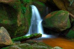 Waterfall from The Jizera Mountains Stock Photography