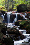 Waterfall in the Jizera Mountains Royalty Free Stock Photos