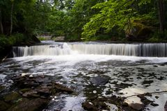 Waterfall Joaveski. Waterfall in river Joaveski. Estonia royalty free stock photography