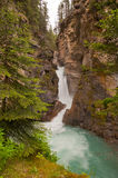 Waterfall at Johnston Canyon Stock Photo