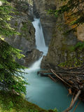 Waterfall in Johnston canyon Stock Photo