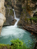 Waterfall in Johnston canyon Royalty Free Stock Image