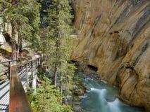 Waterfall in Johnston canyon. Banff National Park, Canada Royalty Free Stock Photos
