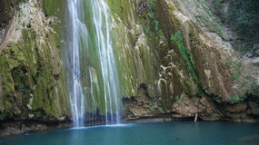 Waterfall Jump Limon City. Las Terrenas. Dominican royalty free stock photography