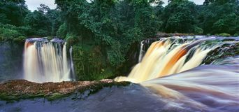 Waterfall in gabon. Waterfall in the jungle of gabon Stock Image