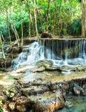 Waterfall in Jungle at Kanchanaburi Province, Thailand Royalty Free Stock Photography