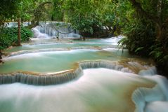 Waterfall in the jungle, kuangsi Stock Image
