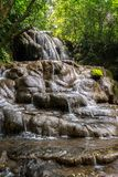 Waterfall in the jungle. Waterfall in the middle of the jungle, palenque mexico Stock Photography