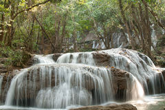 Waterfall in jungle in Thailand Stock Images