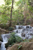 Waterfall in jungle in Thailand Stock Photo