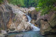 Waterfall in jungle of Vietnam. Ba Ho waterfall near Nha Trang Stock Photo