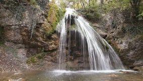 Waterfall Jur-Jur in Cremea. stock video