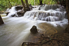 Waterfall in Kanchanaburi Stock Image