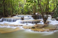 Waterfall in Kanchanaburi Royalty Free Stock Photo