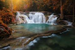 Waterfall in Kanchanaburi Royalty Free Stock Photography