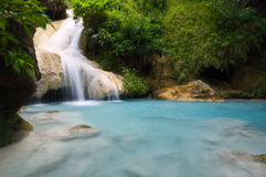 Waterfall ,Kanchanaburi Province Thailand Royalty Free Stock Photography
