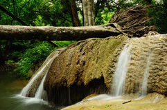 Waterfall in Kanchanaburi, Thailand Royalty Free Stock Photo