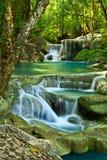 Waterfall in Kanchanaburi, Thailand. Waterfall at Erawan national park in Kanchanaburi, Thailand Royalty Free Stock Photography